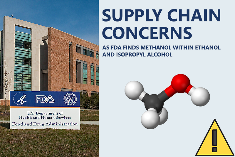 Pharmaceutical Supply Chain Infiltrated with Methanol